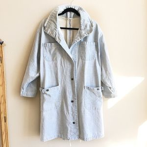 🆕 Light Wash Denim Parka Jacket
